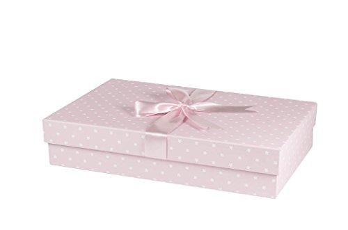 Klassische Handmade Hochzeit Kleid Box (einfach Blumen pink) 75cm x 50cm x 15cm