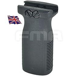 FMA Airsoft PTS Style Vertical Rvg pour Airsoft AEG Grip Noir SWAT 20mm Rail Britannique