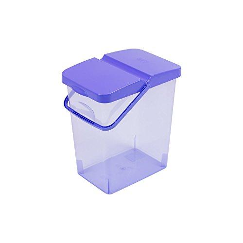 10 L Behälter Waschpulver Futterbehalter Unibox mit Deckel blau Aufbewahrungsbox Bad Küche