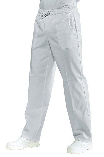 Isacco Pantalone con elastico Bianco, Bianco, M, 100% Cotone, 190 gr/m²