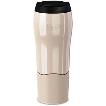 mighty mug MM1526 To Go Standfester Henkel Thermobecher für unterwegs, weiß