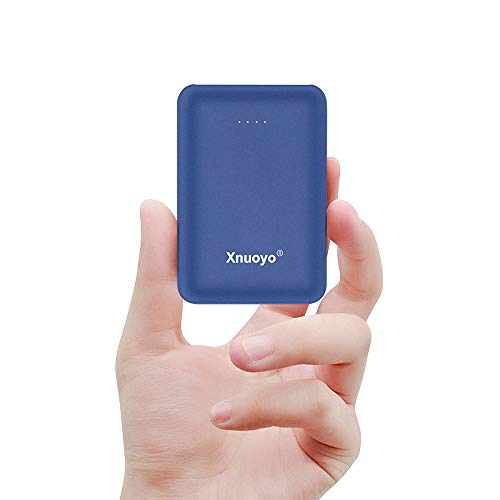 Xnuoyo Mini Portátil Power Banks 10000mAh Batería Externa del Cargador con el Tipo-C Entrada (Azul)