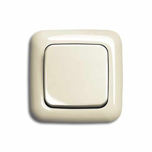 Komplett-Set BUSCH-JAEGER, Wechselschalter -cremeweiß- -Duro 2000-