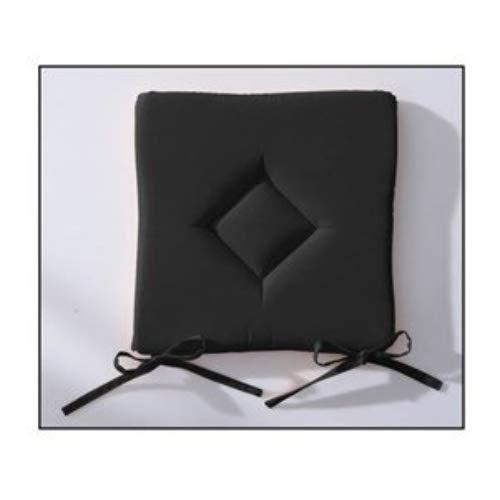 Today 261302cuscino classico poliestere 40x 40cm, poliestere, réglisse/noir, 40x40x3 cm