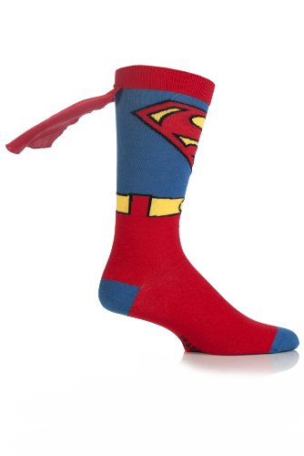 Herren 1 Paar SockShop Superman Cape Socks Bunt (Capes Superman)