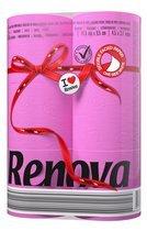 48 Rollen RENOVA farbiges buntes Toilettenpapier - FUCSIA / PINK