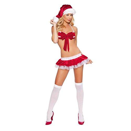 LIUZHI Santa Anzüge Cosplay Kostüme Frau Weihnachten Fest/Feiertage Halloween Kostüme Patchwork , One (Komisch Santa Kostüme)