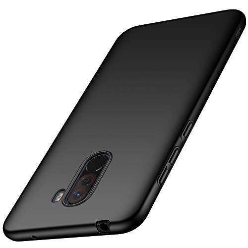 XINO Xiaomi Pocophone כיסוי F1, כיסוי מחשב, Anti-scratch, Ultra קל משקל ורזה, שריון קשיח, ספיגת זעזועים, עבור Xiaomi Pocophone F1 (שחור)