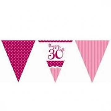 Birthday Flag Bunting - 3.7 Metres Long (Bunting Flags)