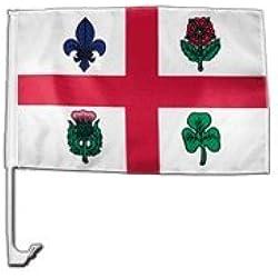 Canada Montreal Car Flag - 12 x 16 inch