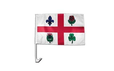 Autofahne Autoflagge Kanada Montreal - 30 x 40 cm