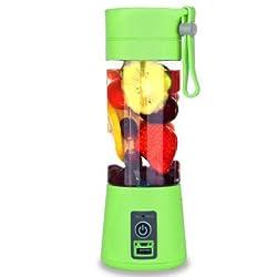 Generic Portable USB Electric Fruit Citrus Juicer Bottle Handheld Milkshake Blender- Green