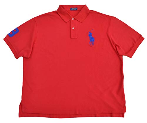 Ralph Lauren Big & Tall Poloshirt Big Pony Polo Rot 5XB (Herren Poloshirt Tall Big)