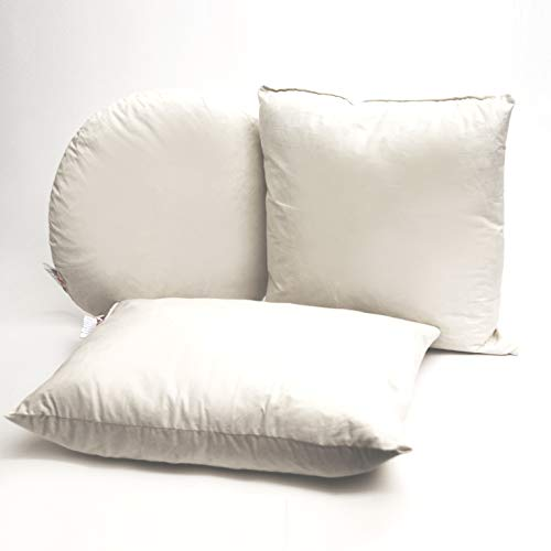 Cotton Mills Kissenfüllung mit Baumwollbatist, 55 cm, mit Entenfedern, 2 Stück