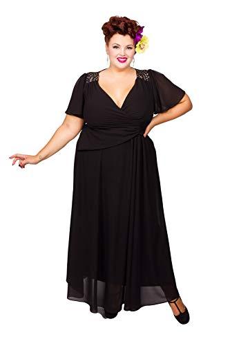 Embellished Shoulder Wrap Gown -