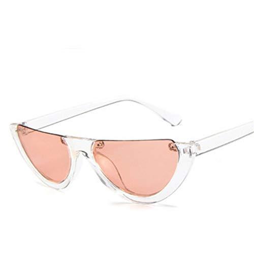 GJYANJING Sonnenbrille KühleModische HalbrahmenRandlose Cat EyeSonnenbrille Frauen ModeKlareSonnenbrille Für Weibliche Sunglas