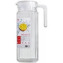 BlinkMax Glass Beaked Type Water Jug 1100 ML With Plastic Lid