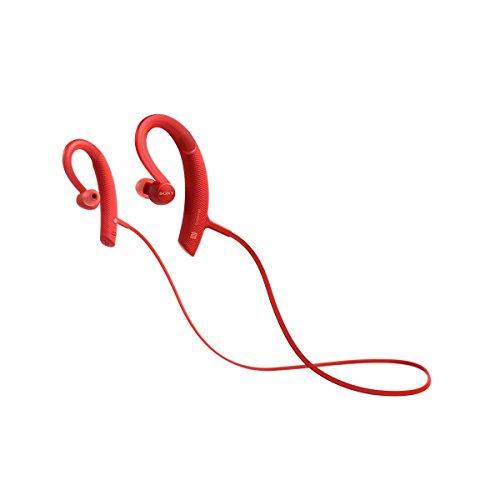 Sony MDRXB80BSR Color Rojo- Auriculares Deportivos Bluetooth con Agarre al