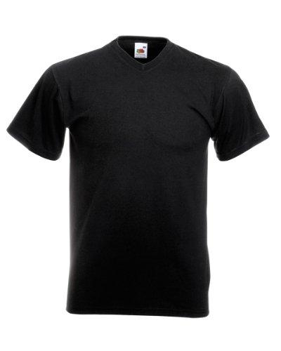Fruit of the Loom T-shirt col en V Noir - Noir