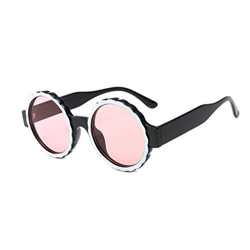 Moserian Damen Fashion Runde Rahmenmaske Sonnenbrille Integrierte Gasbrille