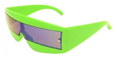 Futuristisch Umwickeln Robocop / Lady Gaga / Zyklop / Neon Brille Sonnenbrille - 6 Farben -volle UV400 Schutz - Grün, (Futuristische Kostüme)