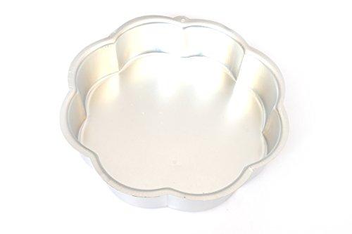 PRC Online Retail Volksrepublik China Flower Käsekuchen Pfanne aus eloxiertem Aluminium Chiffon Kuchen Form Backform Kuchen Maker 20,3cm (Schnellkochtopf-käsekuchen-pfanne)
