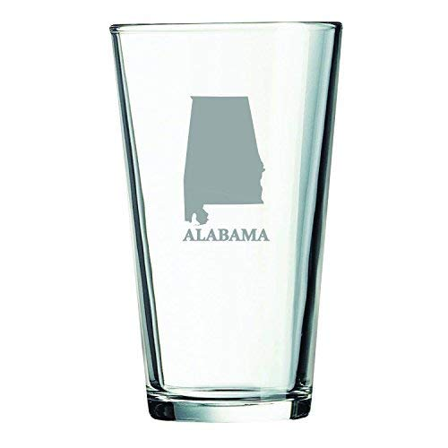 Alabama Glas (LXG, Inc. Alabama-State Outline-454 ml Pint-Glas)