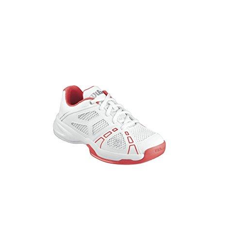 Wilson Rush Per 2 Scarpe da tennis per bambino - bianco - rosso, 31 1/3 EU