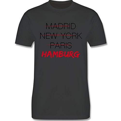 Städte - Weltstadt Hamburg - Herren Premium T-Shirt Dunkelgrau