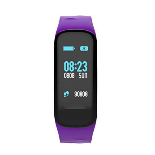 Flight Fitness Tracker Farb Touchscreen Aktivitätstracker Blutdrucküberwachung Fitness Armband Schlafmonitor Smart Uhr IP67 Wasserdicht Intelligentes Armband Geeignet Für Kinder Damen Herren,Purple