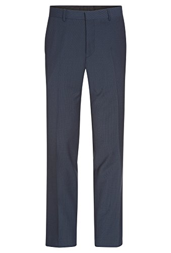 COOL CODE Herren Baukastenhose aus Wolle-Bi-Stretch Business-Hose,City,Anzug,Büro,Baukasten,regular dunkelblau,54