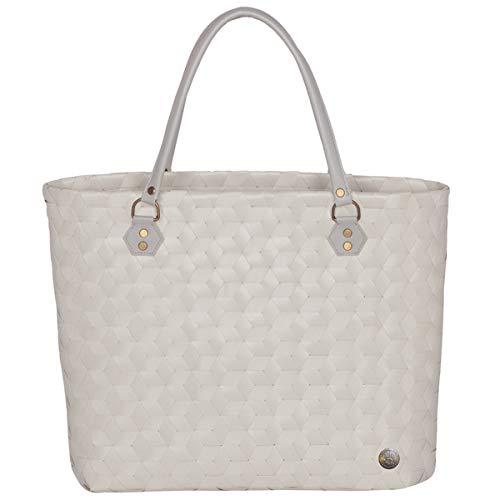 Hnded by - Balance - Medium Bag - Tasche/Einkaufstasche/Henkeltasche - Farbe: Ecru/Leinen - Kunststoff - L: 29cm x B: 11cm x H: 35cm -