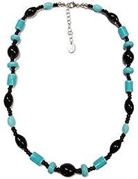 Venetiaurum - Collana girocollo donna con perle in vetro originale di Murano e argento 925 - Gioiello made in Italy certificato