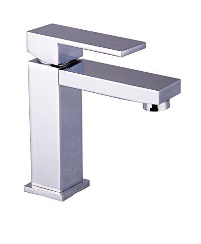 DP Grifería Encina – Grifo monomando de lavabo , color plata