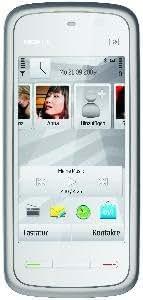 Nokia 5230 Navi Smartphone (8,1 cm (3,2 Zoll) Display, Touchscreen,  2 Megapixel Kamera) white-chrome