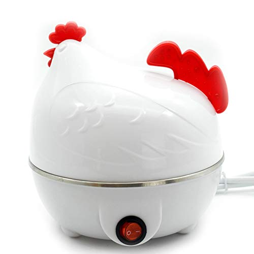 Zuhause Eierkocher, Eier Dampfer Huhn geformt Eierkocher Neuheit Küche Kochwerkzeug Heiße Milch Frühstück Ei-Dampfer Elektrischer Eierkocher Weiß Gelb,A Huhn, Küche
