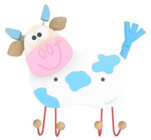Scratch Europe - Kinder Garderobe Kuh blau