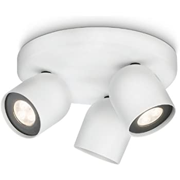 Philips ledino 3 spotlight ceiling light white integrated 3 x 75 philips ledino 3 spotlight ceiling light white integrated 3 x 75 watts led bulb aloadofball Image collections
