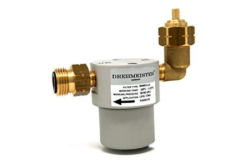Filtro para Botellas de Gas 21,8 LH x G12 Recto -90° acodado - Filtro para Botellas GLP, GNC, propano...