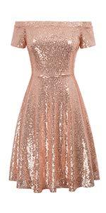 GRACE KARIN Sequin Kleid Kurzarm Kleid cocktailkleid mit ärmel Damen Glitzer Kleid CL891-2 2XL Glitzer-kleid