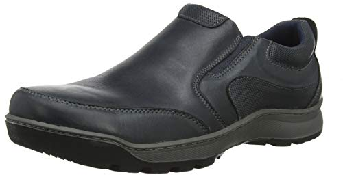 Hush Puppies Jasper, Mocasines Hombre, Blue Navy