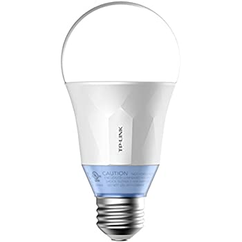 TP-Link Lampadina LED, Attacco E27, Wi-Fi, Comandata da App Android/iOS, Illuminazione Regolabile (2700 K -6500 K), Control Remote, Modalità Circadiana, Equivale a 60 W, Impostazioni della Pianificazione e Monitoraggio Energetico, Bianco