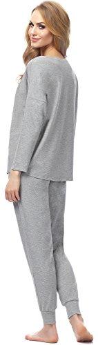 Merry Style Damen Schlafanzug MSFX555 Hellmelange