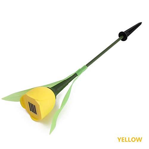 LED Solar-Gartenlichter, bunte Tulpenblumen, Lampe für Hof, Garten, Rasen, Weg, Landschaftsdekoration gelb -