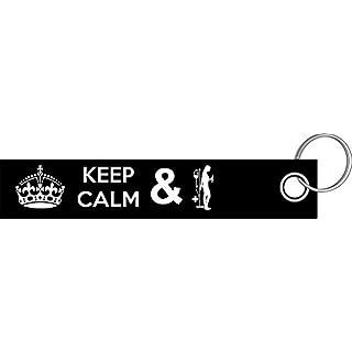 Shirtzshop Keep calm and Krankenschwester Arzthelferin Schlüsselanhänger Schlüsselband Keyholder Lanyard