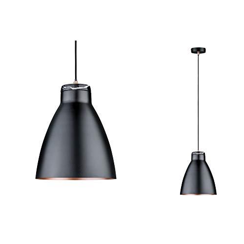 Paulmann 79609 Neordic Roald Pendelleuchte max. 1x20W Hängelampe für E27 Lampen Deckenlampe Schwarz m/Kupfer m 230V Metall/Marmor ohne Leuchtmittel, matt