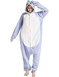 Unisex Animal Pijama Ropa de Dormir Cosplay Kigurumi Onesie Tiburón Azul Disfraz para Adulto Entre 1
