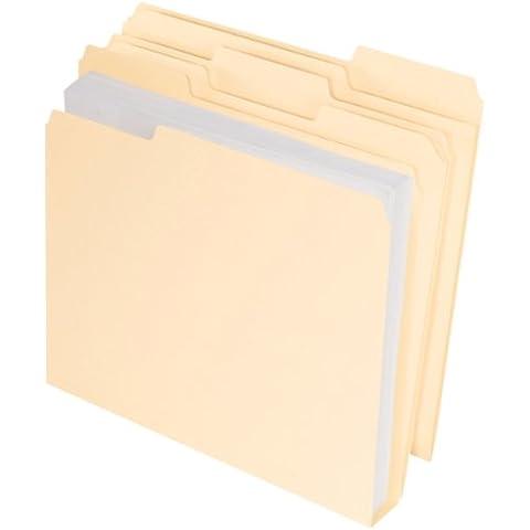 DoubleStuff File Folders, 1/3 Cut, Letter, Manila,