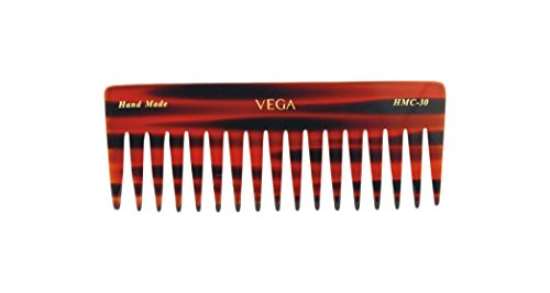 Vega Tortoise Shell Large Sized Shampoo Comb, Brown