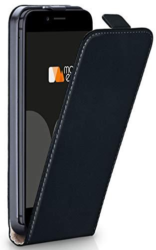 moex iPhone 6S | Hülle Schwarz 360° Klapp-Hülle Etui Thin Handytasche Dünn Handyhülle für iPhone 6/6S Case Flip Cover Schutzhülle Kunst-Leder Tasche - Vertikal Case 6 Leder Iphone